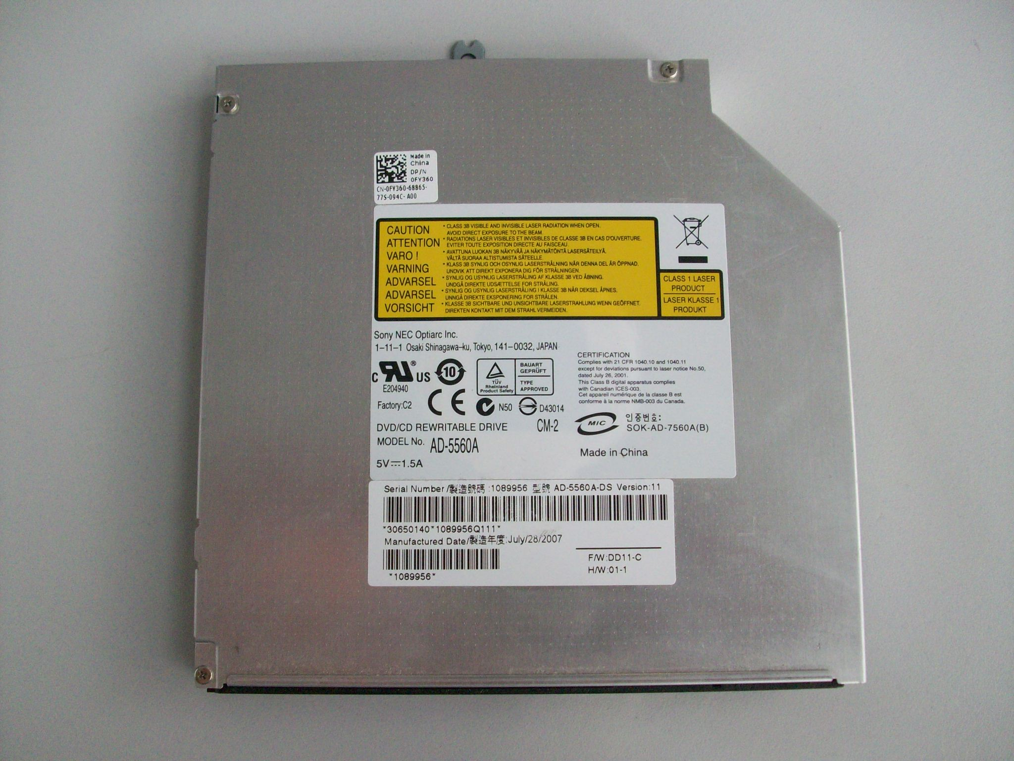 how to connect a dvd drive in hp laptop